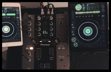 Electronic-DJ session mix image of the CDJ on the iPad DJ App